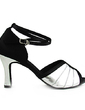 Women's Satin Leatherette Heels Sandals Latin Wedding Party With Ankle Strap Dance Shoes (053013367)