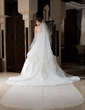 One-tier Cathedral Bridal Veils With Scalloped Edge (006036666)