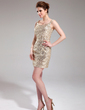 Sheath/Column Scoop Neck Short/Mini Sequined Cocktail Dress (016008692)