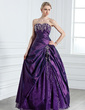 Ball-Gown Sweetheart Floor-Length Taffeta Quinceanera Dress With Embroidered Beading (021005237)