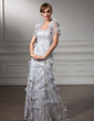Trumpet/Mermaid Sweetheart Floor-Length Lace Mother of the Bride Dress With Beading Flower(s) (008006002)
