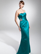 Trumpet/Mermaid Sweetheart Floor-Length Charmeuse Evening Dress With Ruffle Beading (017014678)