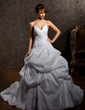 Ball-Gown Sweetheart Chapel Train Taffeta Wedding Dress With Ruffle Lace Beading (002000473)