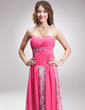 Empire Sweetheart Sweep Train Chiffon Lace Prom Dress With Ruffle Beading (018016893)