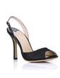 Women's Silk Like Satin Stiletto Heel Peep Toe Sandals Slingbacks (047016987)