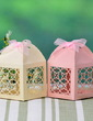 Delicate Laser Cut Favor Boxes With Ribbons (Set of 12) (050026824)