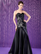 Trumpet/Mermaid Sweetheart Floor-Length Charmeuse Mother of the Bride Dress With Lace Beading Sequins (008018969)