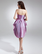 Empire Sweetheart Knee-Length Taffeta Homecoming Dress With Ruffle Beading (022015744)