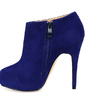 Suede Stiletto Heel Pumps Platform Closed Toe Ankle Boots shoes (088020556)