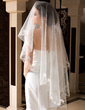 One-tier Waltz Bridal Veils With Cut Edge (006036635)