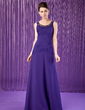 A-Line/Princess Scoop Neck Floor-Length Chiffon Mother of the Bride Dress With Ruffle Beading (008018767)