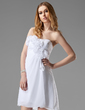 Empire Sweetheart Short/Mini Chiffon Bridesmaid Dress With Ruffle Flower(s) (022020786)