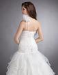 Balo Elbisesi Tek-Omuzlu Şapel Kuyruk Organza Gelinlik (002000622)