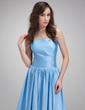 A-Line/Princess Strapless Chapel Train Taffeta Evening Dress With Ruffle (017020686)