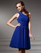 A-Line/Princess One-Shoulder Knee-Length Chiffon Homecoming Dress With Ruffle (022021042)