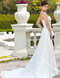 A-Line/Princess Sweetheart Chapel Train Lace Wedding Dress With Beading (002000118)
