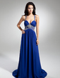 A-Line/Princess Sweetheart Court Train Chiffon Evening Dress With Ruffle Beading (017014880)
