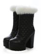 Suni deri Kalın Topuk Ayak bileği Boots ayakkabı (088056363)