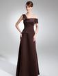 Çan/Prenses Off-Omuz Uzun Etekli Satin Gelin Annesi Elbisesi (008015738)