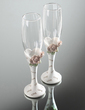 Chic Diamond-embedded Rose Design Lead-free Glass Toasting Flutes (Set Of 2) (126033850)