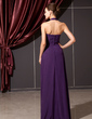 A-Line/Princess Halter Floor-Length Chiffon Bridesmaid Dress With Ruffle (007014243)