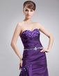 Trumpet/Mermaid Sweetheart Floor-Length Taffeta Mother of the Bride Dress With Lace Beading Cascading Ruffles (008005576)