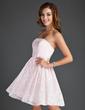 Çan/Prenses Askısız Kısa/Mini Lace Mezunlar Gecesi Elbisesi (022015555)