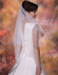 Two-tier Elbow Bridal Veils With Beaded Edge (006013287)