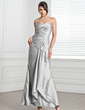 Sheath/Column Sweetheart Ankle-Length Taffeta Evening Dress With Ruffle Beading (017005318)