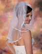 Two-tier Shoulder Veils With Ribbon Edge (006020437)