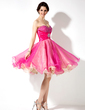 Empire Sweetheart Knee-Length Organza Homecoming Dress With Ruffle Beading Sequins (022021143)