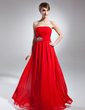 A-Line/Princess Strapless Floor-Length Chiffon Mother of the Bride Dress With Ruffle Sequins (008015656)