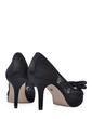 Satin Stiletto Heel Peep Toe Platform Sandals With Bowknot Stitching Lace (085025551)