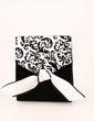 Ivory And Black Flourish Favor Boxes With Ribbons (Set of 12) (050005921)