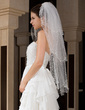 Three-tier Fingertip Bridal Veils With Pencil Edge (006034323)