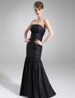 Denizkızı Askısız Uzun Etekli Taffeta Gelin Annesi Elbisesi Ile Boncuklama Pullarda (008006549)