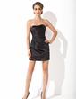 Sheath/Column Sweetheart Short/Mini Charmeuse Cocktail Dress With Ruffle (016021265)