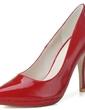 Rugan İnce Topuk Pompalar Platform Kapalı Toe ayakkabı (085057109)