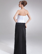Sheath/Column Sweetheart Floor-Length Satin Mother of the Bride Dress With Ruffle Beading (008006488)