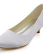 Women's Satin Cone Heel Closed Toe Pumps (047039627)