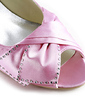 Women's Satin Low Heel Peep Toe Sandals With Bowknot Rhinestone (047020118)