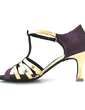Women's Satin Leatherette Heels Sandals Latin With T-Strap Dance Shoes (053016444)