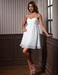 Imperialna Kochanie Krótka/Mini Chiffon Taffeta Sukienka na Zjazd Absolwentów Z Żabot (022011437)