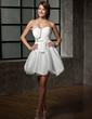 Çan/Prenses Kalp Kesimli Kısa/Mini Taffeta Mezunlar Gecesi Elbisesi Ile Büzgü Boncuklama (022009454)