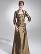 A-Line/Princess Sweetheart Floor-Length Taffeta Mother of the Bride Dress With Ruffle Beading (008006009)