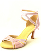 Women's Satin Heels Sandals Latin With Ankle Strap Dance Shoes (053020133)