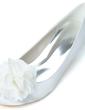 Women's Satin Kitten Heel Closed Toe Pumps With Satin Flower (047057089)