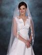 1 couche Voiles de mariée valse avec Bord en dentelle (006003745)