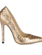 Women's Sparkling Glitter Stiletto Heel Closed Toe Pumps With Sequin (047016469)