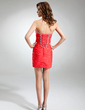Sheath/Column Sweetheart Short/Mini Chiffon Cocktail Dress With Ruffle Beading (016016359)